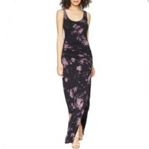 YFB Indio Tie Dye Side Slit Ruched Maxi Dress